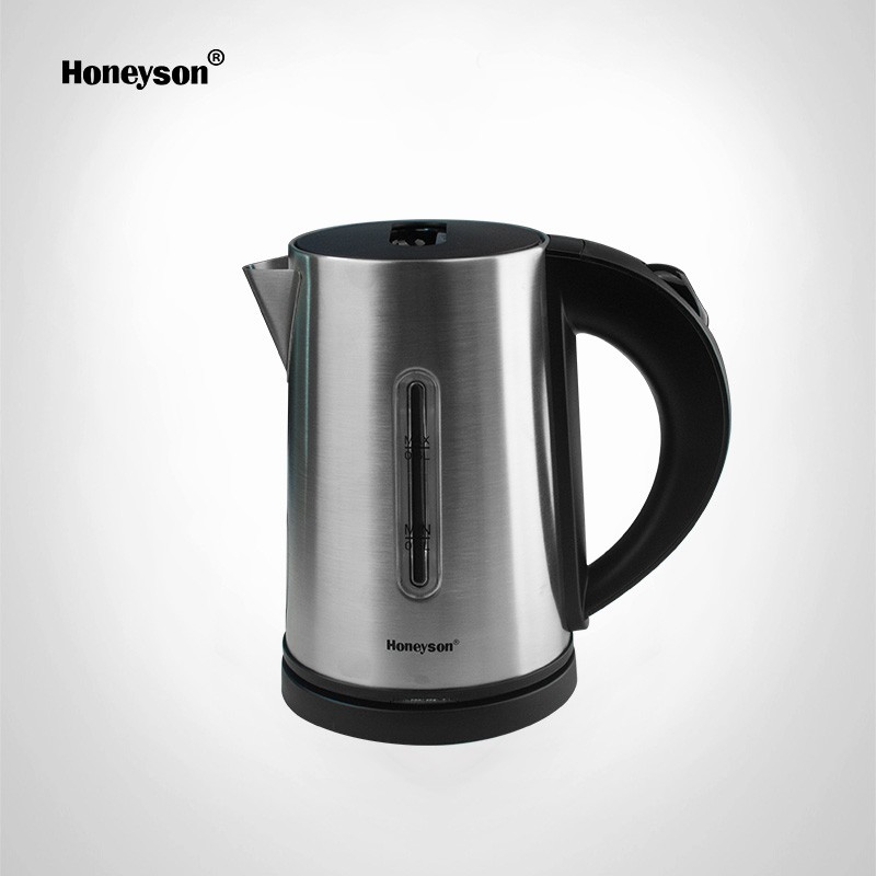 honeyson top hotel quiet 0 6l electric silver kettle with tray. Black Bedroom Furniture Sets. Home Design Ideas