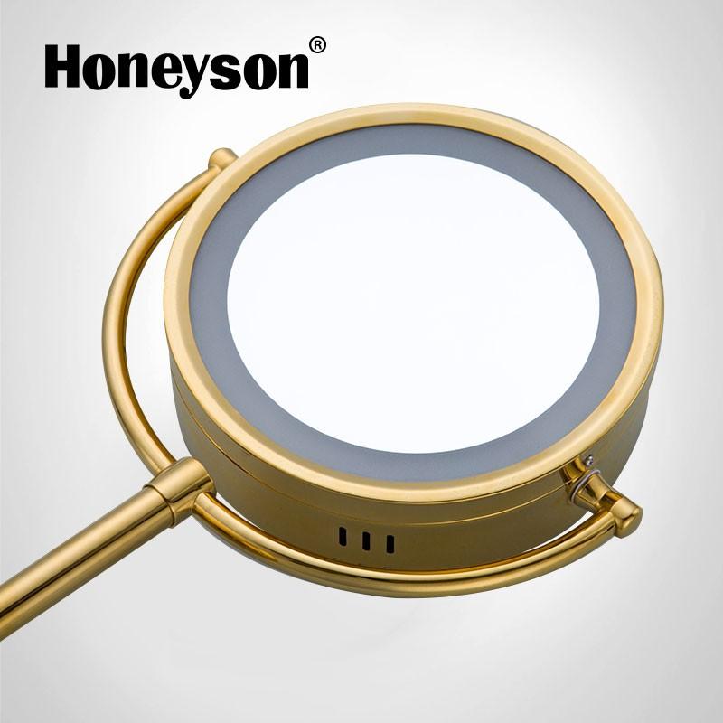 Honeyson 2017 Hotel Sun Shaped Magnifying Bathroom Mirror