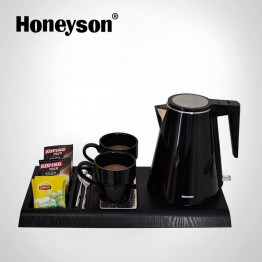 G-H1206 Black Electric Kettle With Tray Set