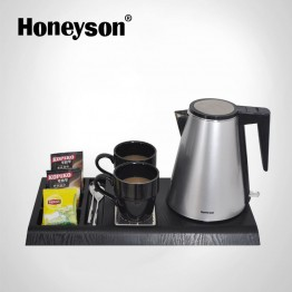 G-H1206 Silver Electric Kettle With Tray Set